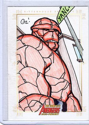 Complete Avengers sketch card by Richlen Tyler