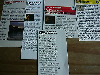 James Yorkston And The Athletes - Magazine Cuttings Collection (Ref Xd)