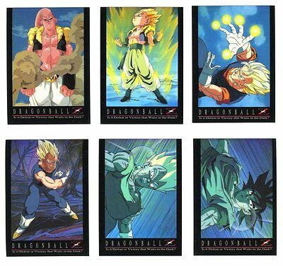 DRAGON BALL Z - Special CHROMIUM INSERT Set - Complete 10 card Set (1996)