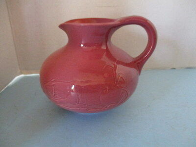 Vintage Pitcher By Floramics Of Florida, Grey Hounds And A Cougar, Rare
