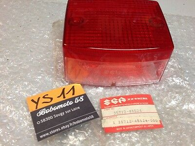Suzuki 35712-48524 FZ50 LT125 TS185 DR500 cabochon feu rouge tail lamp red cover