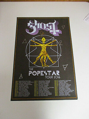 Ghost Bc Autographed Signed Concert Lithograph W/ Signing Picture Proof + Bonus