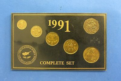 1991 Cyprus 6 coin Uncirculated set in sealed pack  (T9/24)