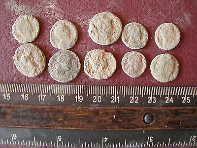 Authentic Ancient Artifact   Lot of 10 Higher Quality ROMAN Coins 14648