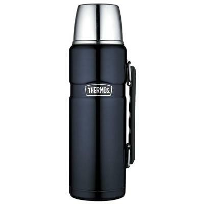 Thermos Isolierflasche Stainless King Blue 1,2  Liter blau mit Trinkbecher