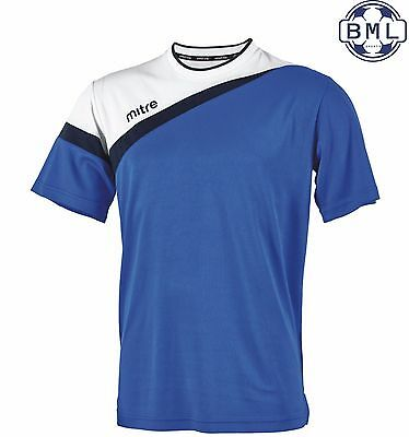 **50% discount** MITRE POLARIZE T-SHIRT - LARGE ADULT - ROYAL/WHITE