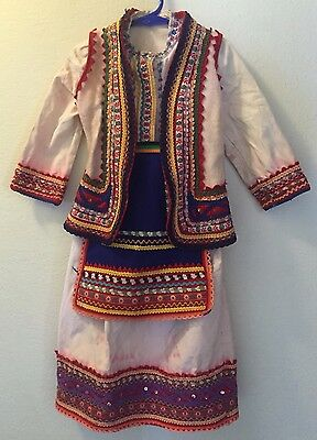 VINTAGE Girls EASTERN EUROPEAN Costume with Vest & Apron