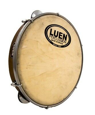 """10"""" WOOD and SKIN LEATHER PROFESSIONAL PANDEIRO *MADE IN BRAZIL by LUEN*"""