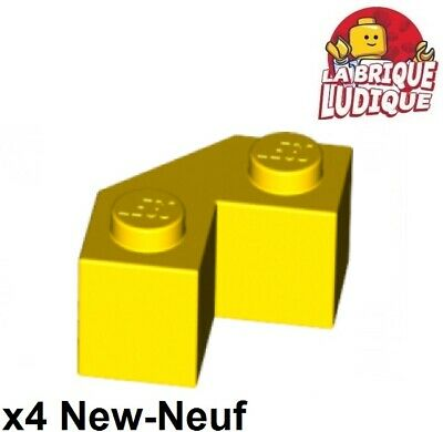 4x Brique Brick Modified Facet 2x2 corner jaune//yellow 87620 NEUF Lego