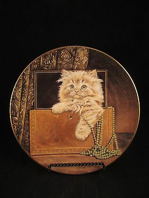 Purrfect Treasure 2nd in Kitten Classics Cat Plate Collection Royal Worcester