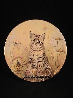 Tiger's Fancy 5th in Kitten Classics Cat Plate Collection Royal Worcester
