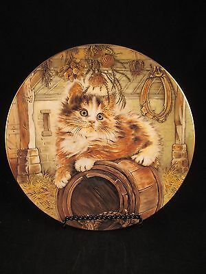 Country Kitty 6th in Kitten Classics Cat Plate Collection Royal Worcester