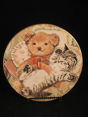 Bedtime Buddies 6th Kitten Encounters Cat Plate Collection Royal Worcester