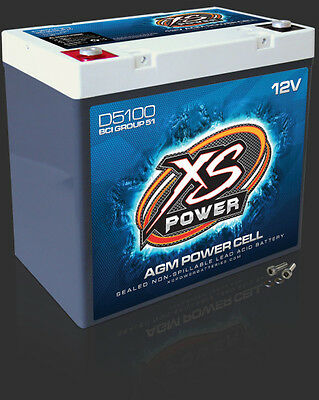 XS Power D5100 NEW 12 Volt Dry Cell AGM Battery 3100 AMPS 12V Power Cell