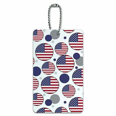 Luggage Card Suitcase Carry-On ID Tag Country National Flag T-Z