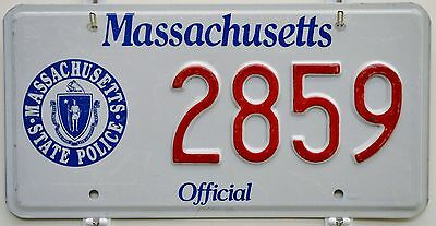 Massachusetts STATE POLICE License Plate Tag ++ MA SP