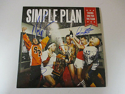Simple Plan Signed Autographed Vinyl Album With Signing Picture Proof