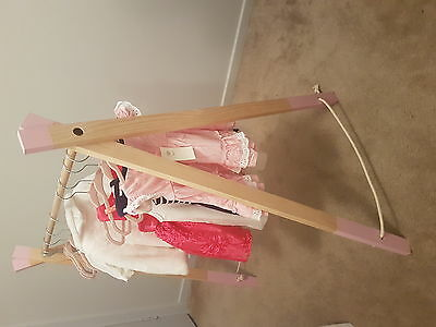 Wooden baby clothes rack