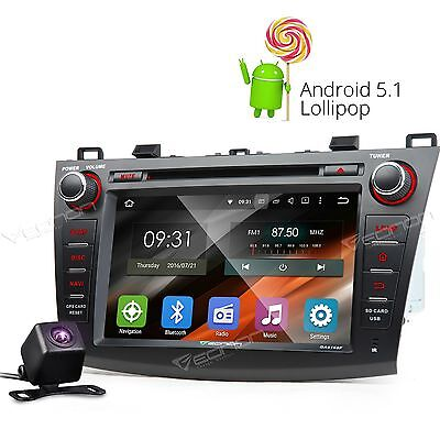 CAM+head unit Android 5.1 Car DVD GPS Player Bluetooth for Mazda 3 R RDS WIFI FM