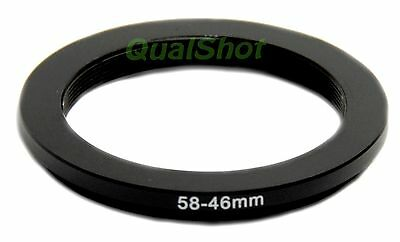 58-46mm 58mm-46mm Step-down adapter ring Anodized Black