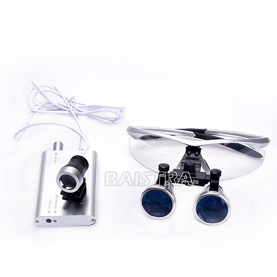 Dentaire Chirurgie Medical Binocular Loupes 3.5X 420mm with LED Head Light Lamp