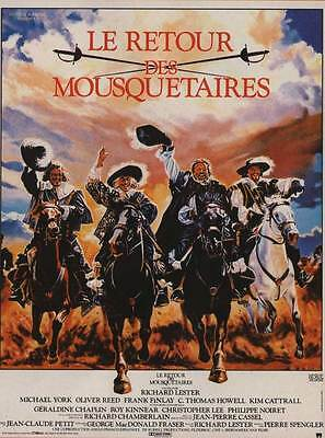 THE RETURN OF THE MUSKETEERS Movie POSTER 11x17 French