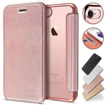 For iPhone 6s 7 plus Luxury Slim book Leather +TPU wallet Flip Cover skin Case