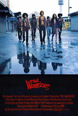 THE WARRIORS Movie Promo POSTER UK Michael Beck James Remar