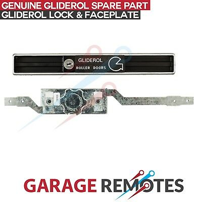 New Gliderol Old Type Replacement Roller Door Lock Assembly, Faceplate & Keys