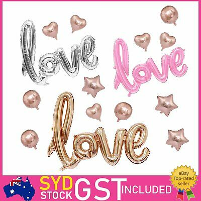 40 Inches Love Foil Balloon Balloons Backdrop Script Handwriting Wedding Party D