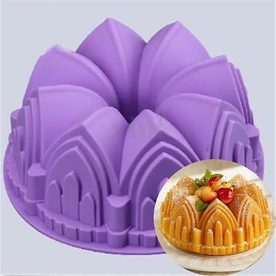 "9"" Round Silicone Cake Mold Pan Muffin Chocolate Pizza Pastry Baking Tray Mould"