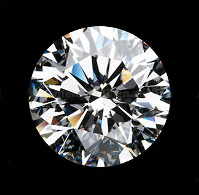 1ct 6.5mm Round Brilliant Cut White Clear Loose Certified  Moissanite ON SALE!