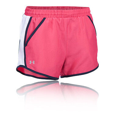 Under Armour Fly By Mujer Rosa Running Gimnasio Shorts Deporte Pantalones Casual