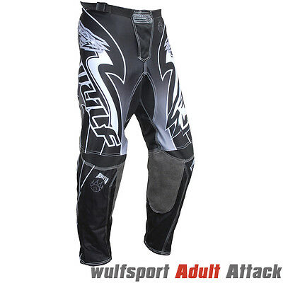 Wulfsport Attack Adult MX Race Motorbike Trousers Motocross Pants Grey