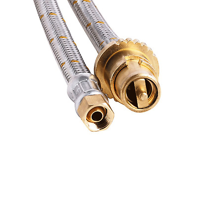 New Bromic Stainless Steel Braided Gas hose 1/4 BSP FC x Male Bayonet x 300cm
