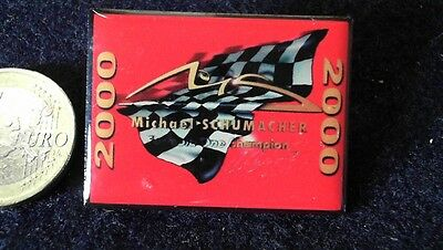 Michael Schumacher Pin Badge Formel 1 World Champion 2000 Schumi Ferrari
