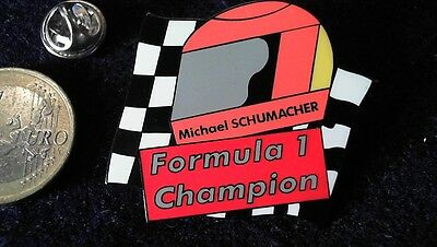 Michael Schumacher Pin Badge Formel 1 World Champion Helm Helmet Schumi