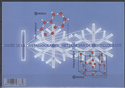 2014 joint issue belgium slovenia International Year of Crystallography MNH**