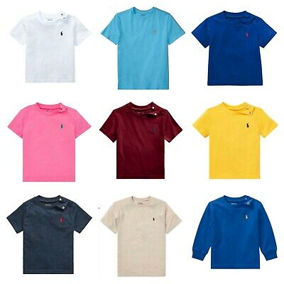Genuine Ralph Lauren Polo baby boys small pony t shirt cotton top 9,12,18,24 m