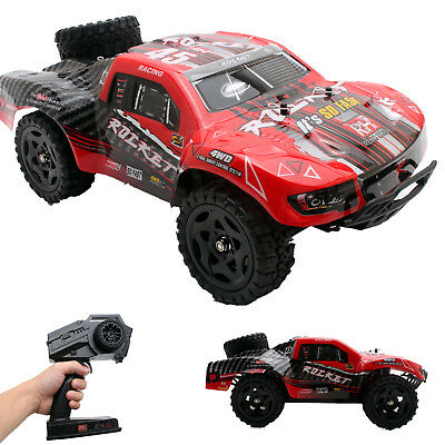REMO 1/16 RC Truck 2.4Ghz 4WD High Speed Off-road RC Car Short Course Truck Red