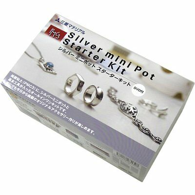 Sterling silver clay PMC3 Silver mini pot starter kit from Japan
