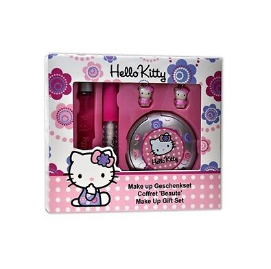Hello Kitty  Make Up Gift Set For Girl,Eau de Toilette 15ml + 2 Pc lip gloss and