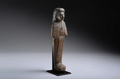 Ancient Egyptian New Kingdom Wooden Shabti - 1550 BC