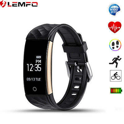 Lemfo IP67 Waterproof Bluetooth Sport Tracker Smart Wrist Band For Android IOS