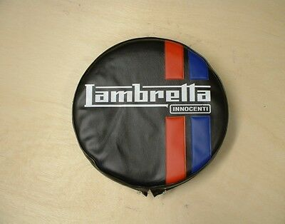 "Lambretta  Spare Wheel Cover  ""black With Logo"" - Brand New"
