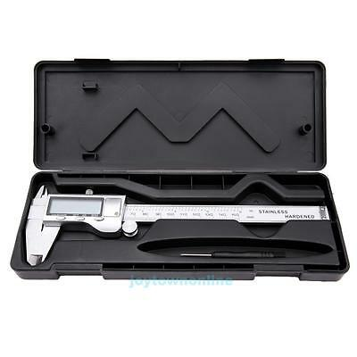 Stainless Steel Electronic Digital Vernier Caliper Micrometer Guage LCD 0~6""