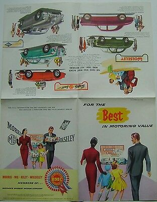 Nuffield Range Morris Minor Wolseley MG MGA Riley 1956-57 Sales Brochure H&E5665