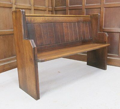 Hendon Solid Oak T&G Back Church Pew | We deliver