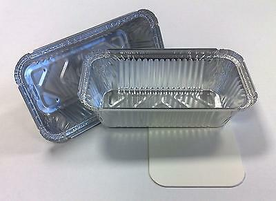100 X 6a Heavy Foil Container With Lids U.K. Made