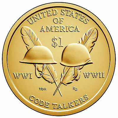 2016 D $1 Native American - WWI & WWII Code Talkers - Pos B - BU